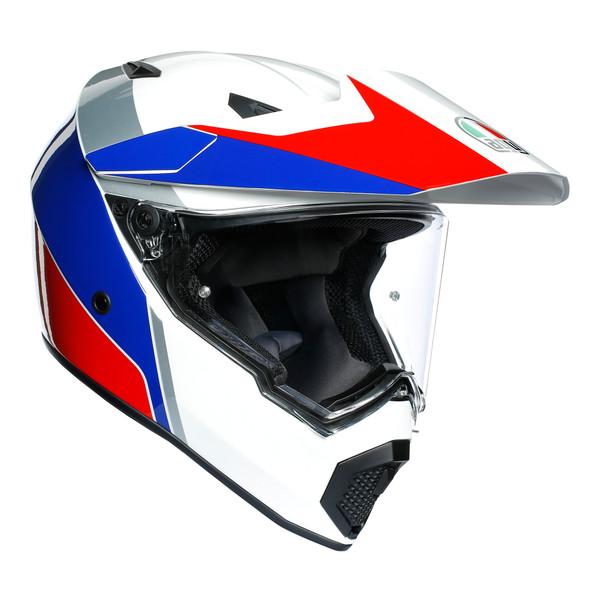 AGV AX9 Adventure Helmet - Atlante White / Blue / Red
