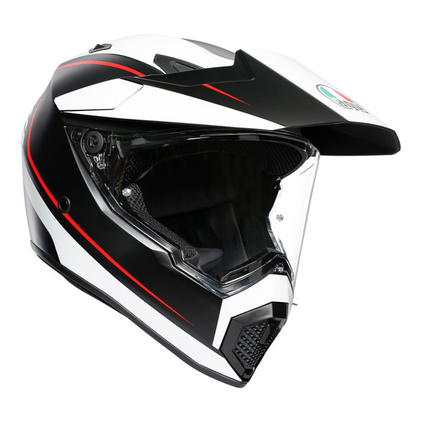AGV AX9 Adventure Helmet - Pacific Road Matt Black / White / Red