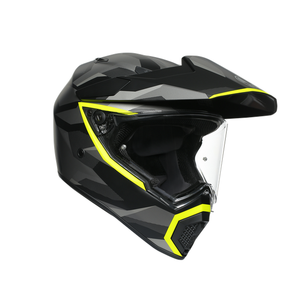 AGV AX9 Adventure Helmet - Siberia Matt Black  / Fluo Yellow