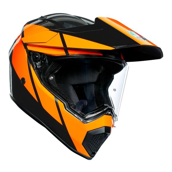 AGV AX9 Adventure Helmet - Trail Gunmetal / Orange