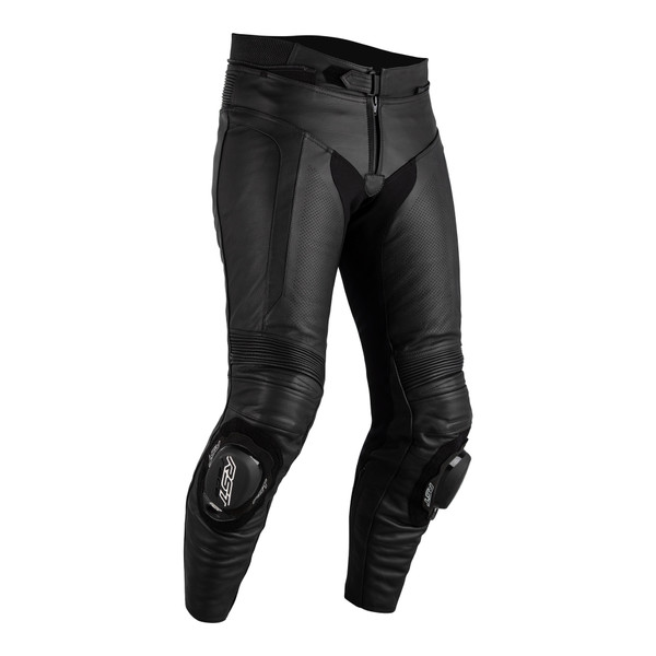 RST Axis Sport CE Mens Leather Jeans Short - Black / Black
