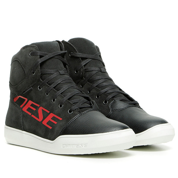 Dainese York D-WP Waterproof Shoes 08D - Dark Carbon / Red