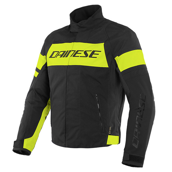 Dainese Saetta D-Dry Textile Jacket - Black / Fluo Yellow