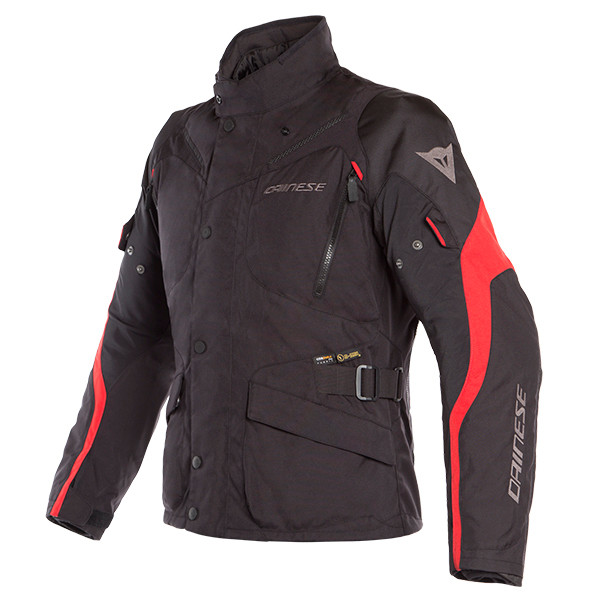 Dainese Tempest 2 D-Dry Waterproof Jacket - Black / Black / Tour Red