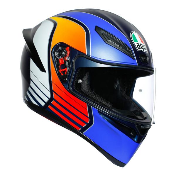 AGV K1 Full Face Helmet Power Matt - Dark Blue / Orange / White