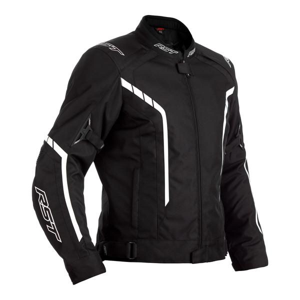 RST Axis CE Mens Textile Jacket - Black / Black / White
