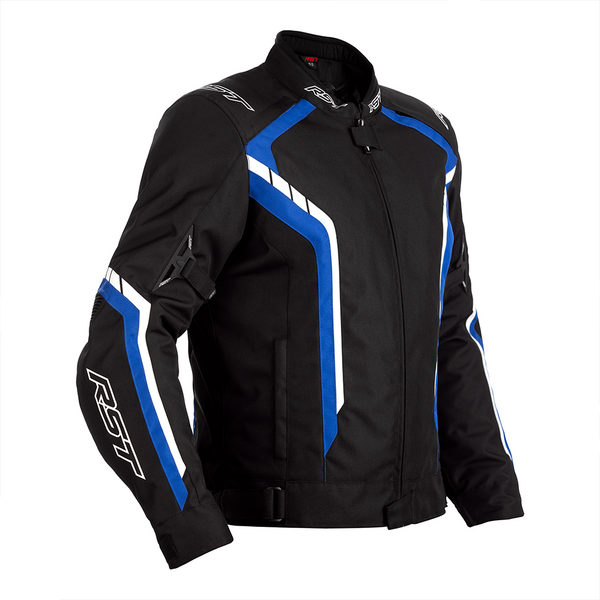 RST Axis CE Mens Textile Jacket - Black / Blue / White