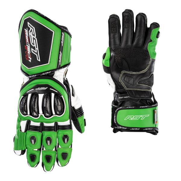 RST Tractech Evo 4 CE Mens Gloves - Green / Black / Black
