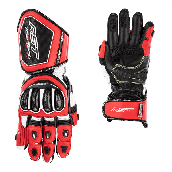 RST Tractech Evo 4 CE Mens Gloves - Red / White / Black