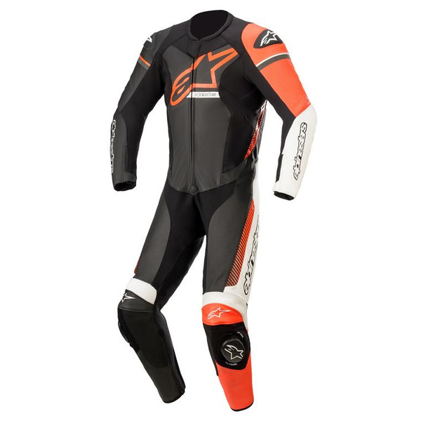 Alpinestars GP Force Chaser 1 Piece Leather Suit - Black / Red Fluo
