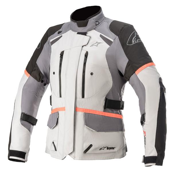 Alpinestars Stella Andes v3 Drystar Textile Ladies Jacket - Grey / Dark Grey / Black / Coral