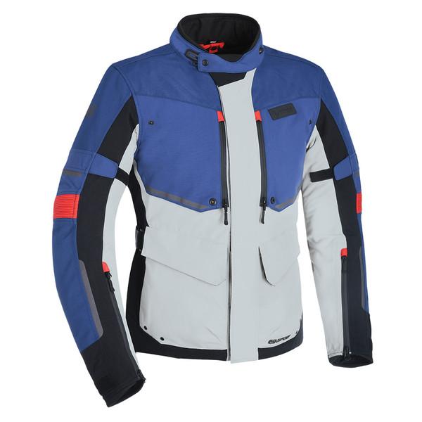 Oxford Mondial Men's Advanced Laminated Textile Jacket - Grey / Blue / Red