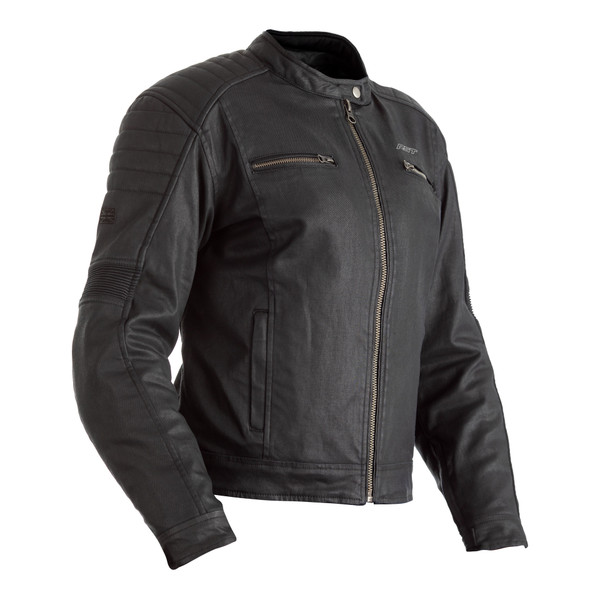 RST x Kevlar® Brixton CE Ladies Wax Textile Jacket - Black