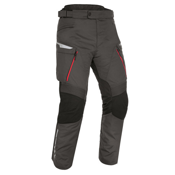 Oxford Montreal 4.0 Dry2Dry Textile Waterproof Trousers - Black / Grey / Red