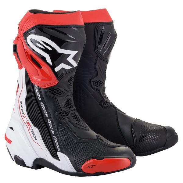 Alpinestars Supertech R Race Boots - Black / White / Red