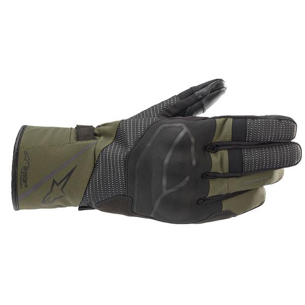 Alpinestars Andes V3 Drystar Waterproof  Gloves - Black / Forest Green