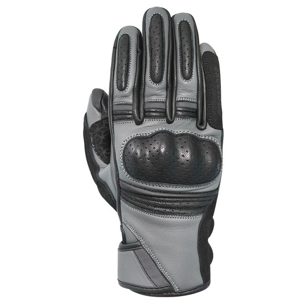 Oxford Ontario Men's Leather Gloves - Charcoal / Black
