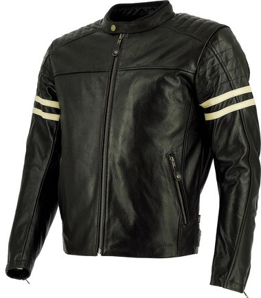 Richa Lincoln Cafe Racer Leather Jacket - Brown