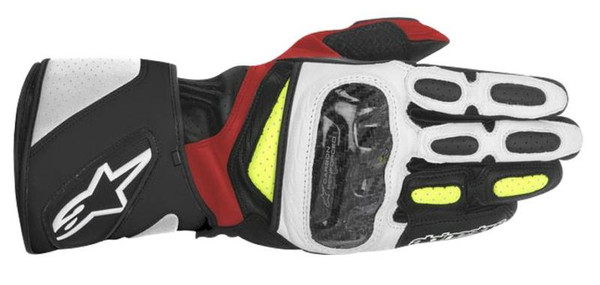 Alpinestars SP-2 Leather Sports Motorcycles Gloves - Yellow / Red