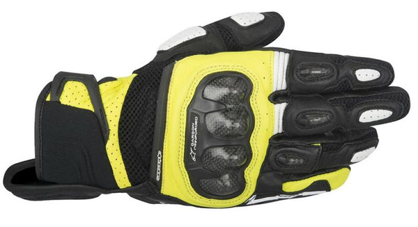 Alpinestars SPX Air Carbon Motorcycle Gloves - Black / Yellow