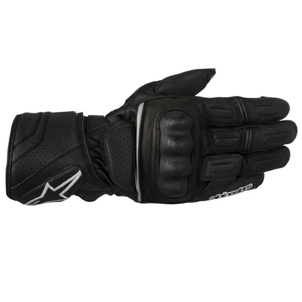 Alpinestars SPZ Drystar Waterproof Leather Textile Gloves - Black
