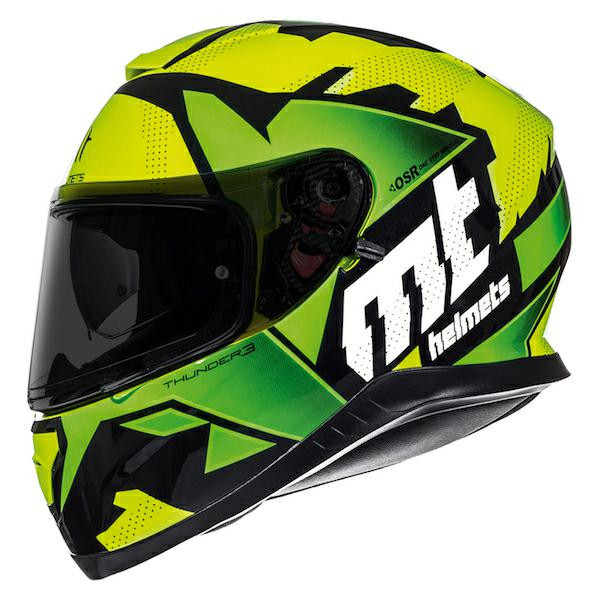 MT Thunder 3 SV Torn Full Face Helmet - Yellow / Green