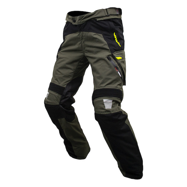 Armr Tottori Evo 2 Waterproof Textile Trousers - Black / Grey / Fluorescent