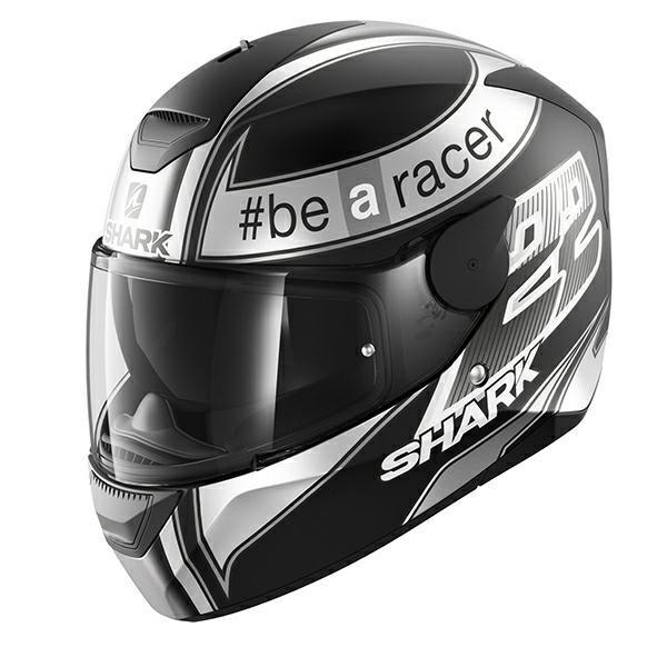 Shark 2018 D-Skwal Sam Lowes Replica Full Face Helmet - Matt Black/Grey