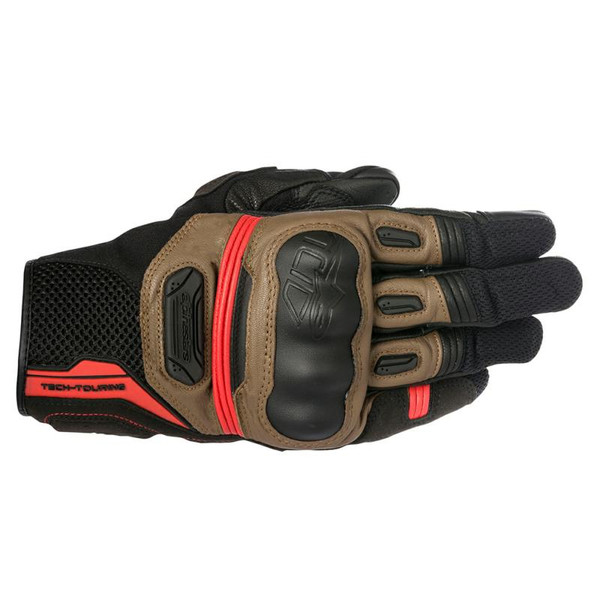 Alpinestars Highlands Goat Leather & Mesh Gloves - Brown / Black
