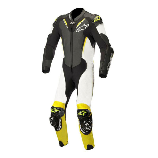 Alpinestars Atem V3 Leather 1 Piece Race Suit - Black / White / Yellow