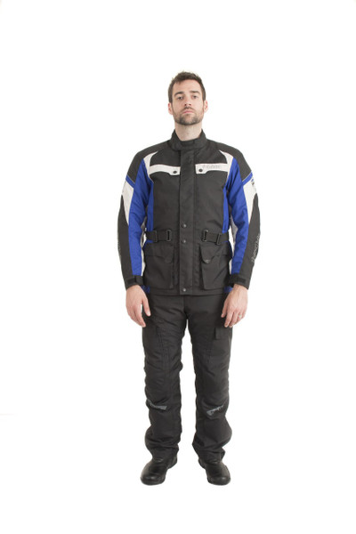 Trik Moto M105 3/4 City Waterproof Jacket - Black / Blue