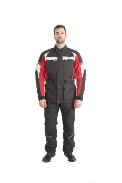 Trik Moto M105 3/4 City Waterproof Jacket - Black / Red