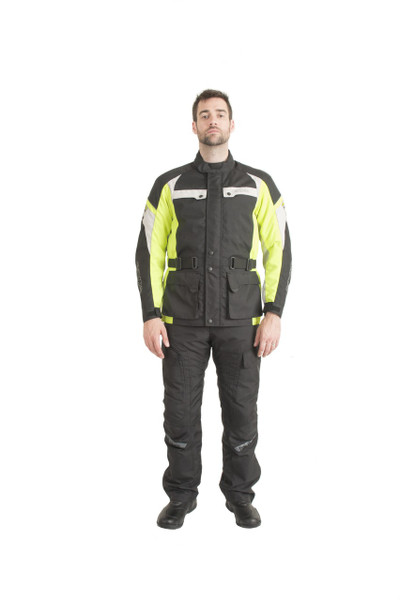 Trik Moto M105 3/4 City Waterproof Jacket - Black / Yellow