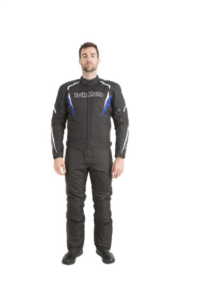 Trik Moto M115 Short Textile Waterproof Jacket - Black / Blue
