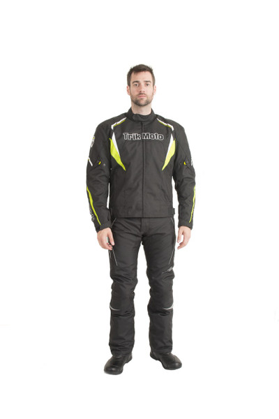 Trik Moto M115 Short Textile Waterproof Jacket - Black / Yellow
