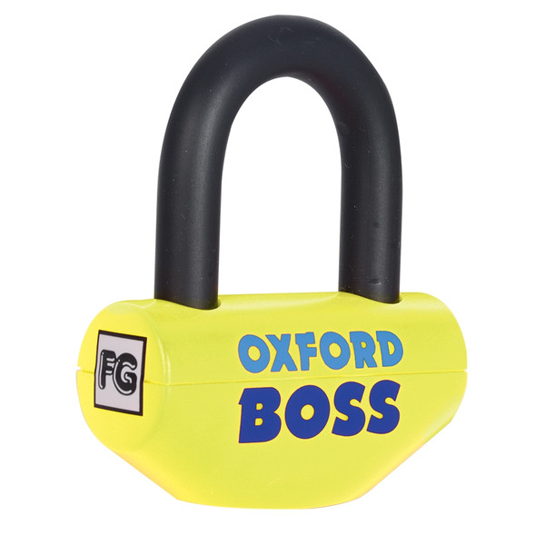 Oxford Boss Lock 14mm Disc Lock - Yellow