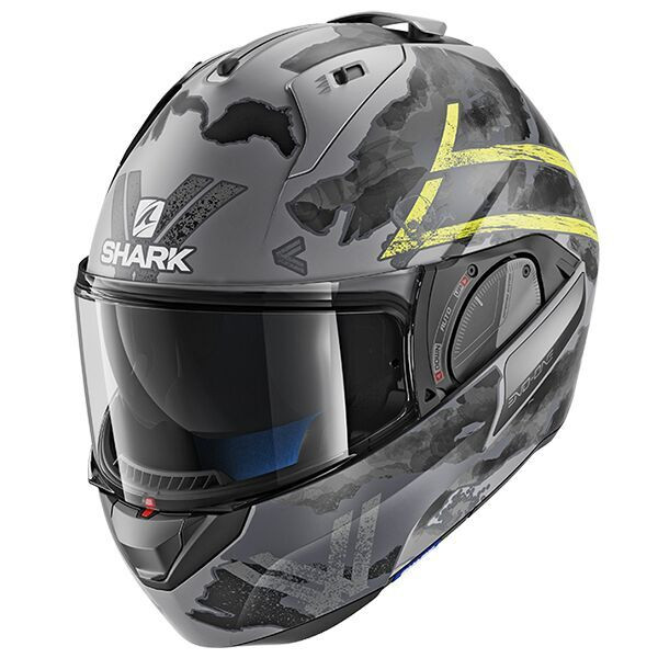 Shark Evo One 2 Flip Front Helmet Skuld AYK - Black / Anthracite / Yellow