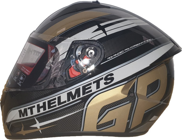 MT Stinger GP Full Face Helmet - Black / Gold