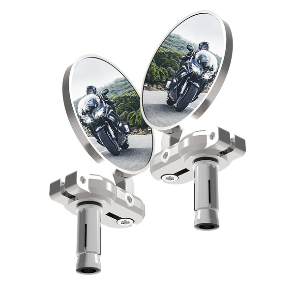 Oxford Bar End Mirror - Silver