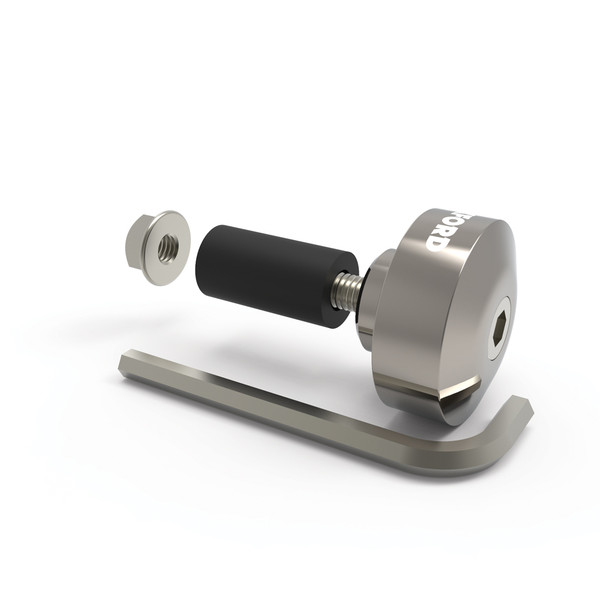 Oxford Aluminium Bar Ends 1 - Silver