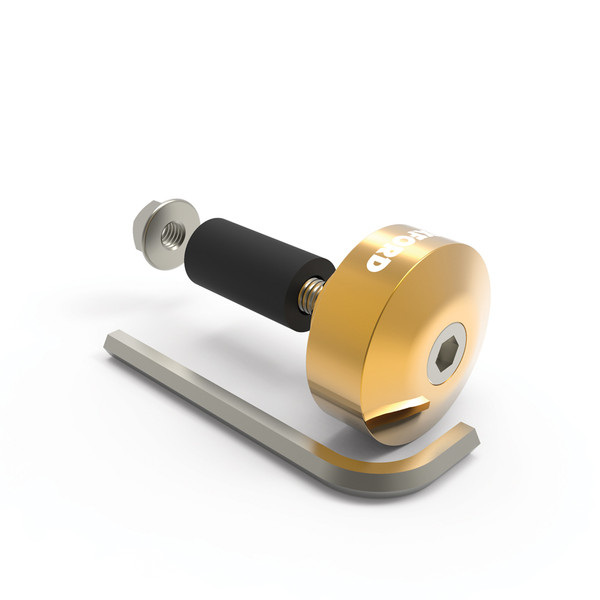 Oxford Aluminium Bar Ends 1 - Gold