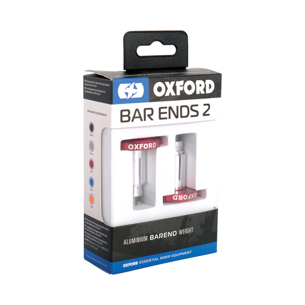 Oxford Aluminium Bar Ends 2 - Red