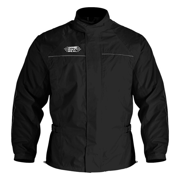 Oxford Rainseal Waterproof Over Jacket - Black
