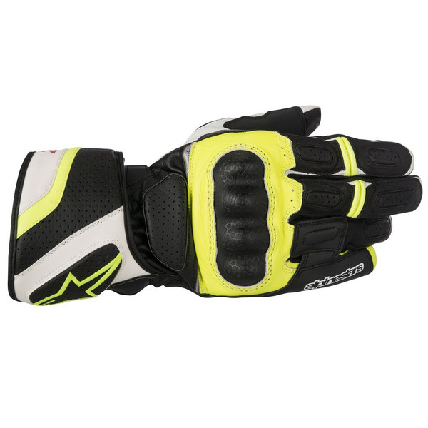 Alpinestars SPZ Drystar Waterproof Leather Gloves - Yellow