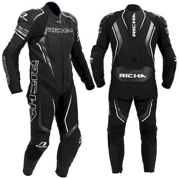 Richa Francorchamps 1 Piece Leather Suit - Black
