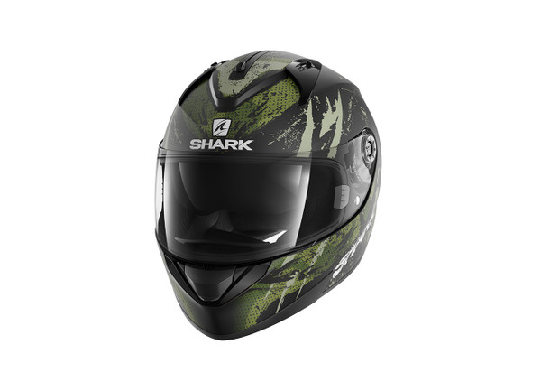 Shark Ridill Threezy Motorcycle Motorbike KWG - Black / Green