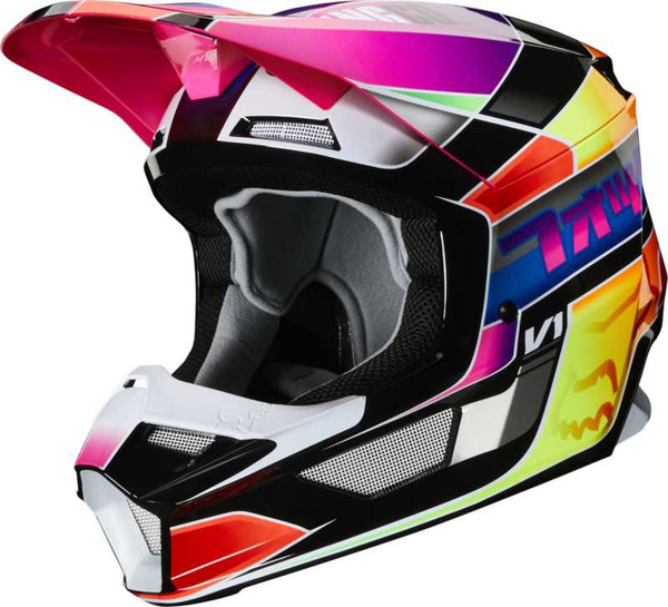Fox V1 Yorr MX20 Motocross Helmet - Multi Coloured