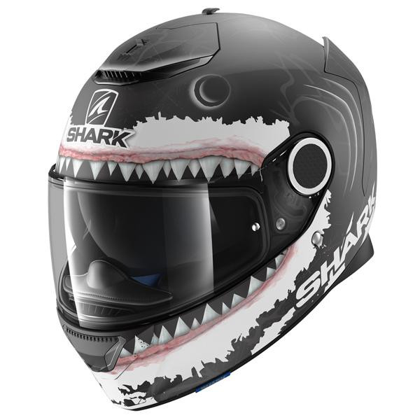 Shark Spartan Lorenzo Replica Full Face Helmet KWA - Black
