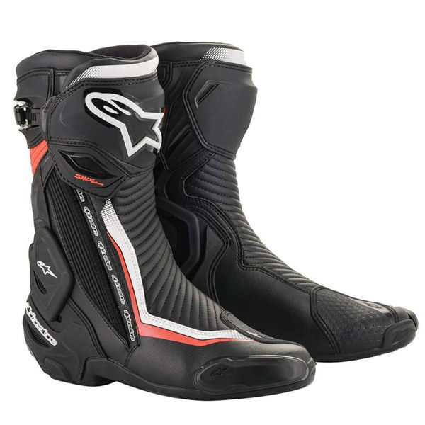 Alpinestars SMX Plus V2 Sports Boots - Black / White / Red