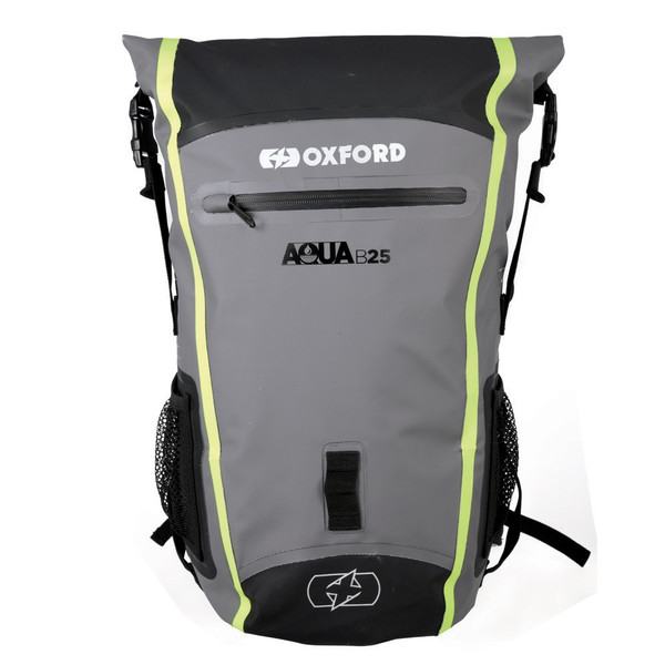 Oxford Aqua B-25 BackPack - Black / Grey / Fluo